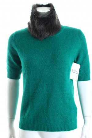 Mexx Kurzarmpullover grün Kuschel-Optik