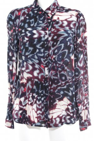Mexx Langarm-Bluse abstraktes Muster Casual-Look