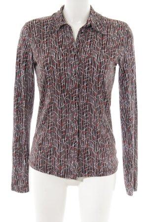 Mexx Langarm-Bluse abstraktes Muster Street-Fashion-Look