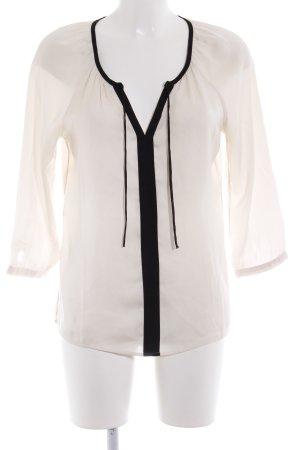 Mexx Langarm-Bluse creme-schwarz Business-Look