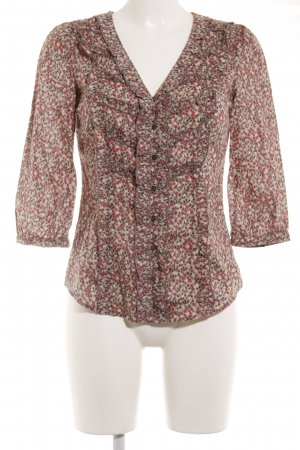 Mexx Langarm-Bluse florales Muster Business-Look