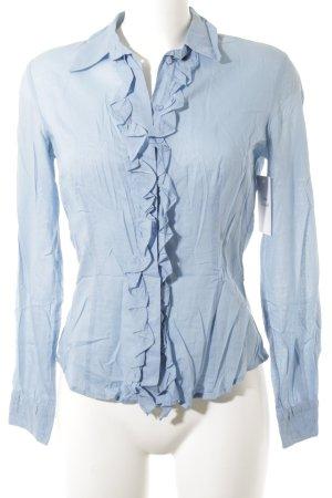 Mexx Langarm-Bluse kornblumenblau Casual-Look