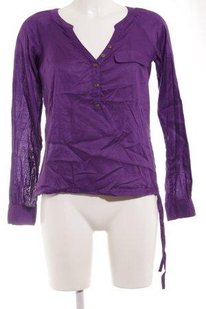 Mexx Langarm-Bluse lila-dunkelviolett Casual-Look