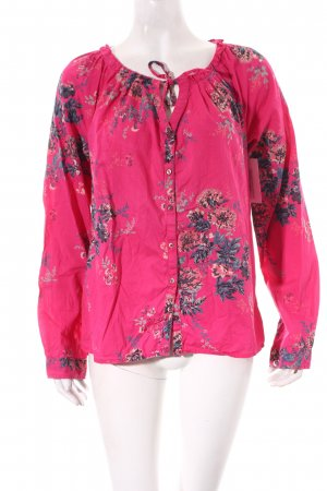Mexx Langarm-Bluse pink florales Muster Casual-Look