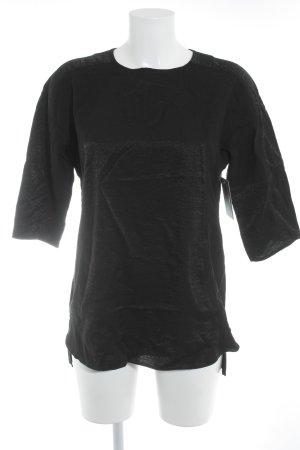 Mexx Kurzarm-Bluse schwarz Glitzer-Optik