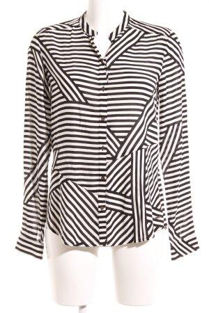 Mexx Langarm-Bluse schwarz-weiß Streifenmuster Casual-Look