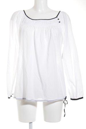 Mexx Langarm-Bluse weiß-schwarz klassischer Stil