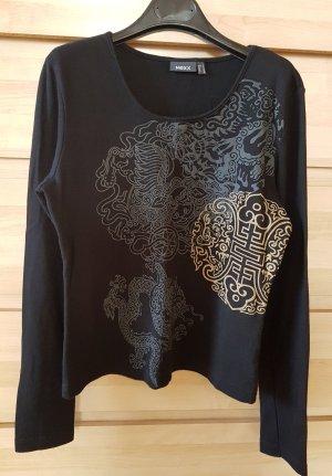 Mexx Langarm Shirt mit Print in Schwarz S