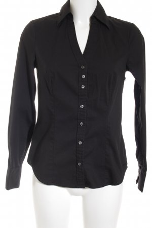 Mexx Langarmhemd schwarz Casual-Look