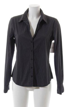 Mexx Chemise à manches longues noir-blanc rayure fine style décontracté