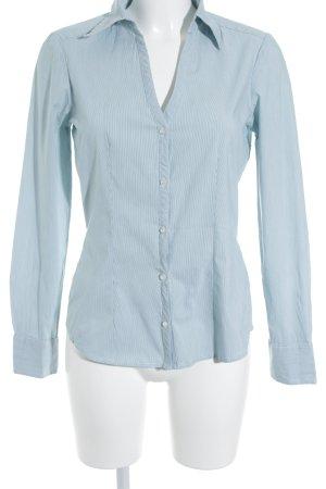 Mexx Langarmhemd weiß-kadettblau Streifenmuster extravaganter Stil