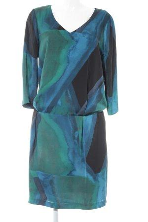 Mexx Langarmkleid blau-dunkelgrün Farbverlauf Elegant