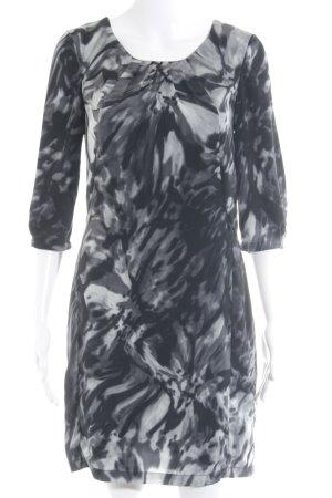 Mexx Langarmkleid schwarz-hellgrau abstraktes Muster extravaganter Stil