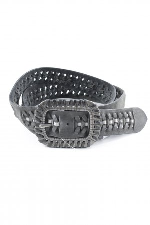 Mexx Leather Belt dark grey-silver-colored casual look