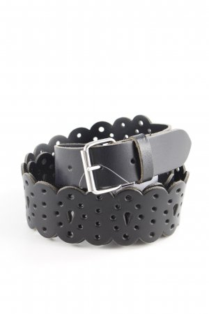 Mexx Leather Belt black abstract print classic style