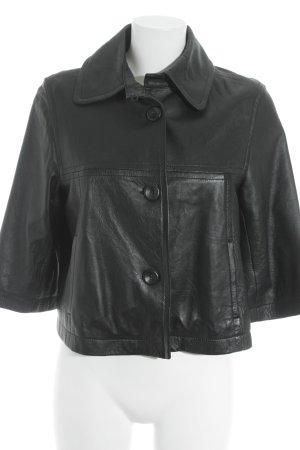 Mexx Lederjacke schwarz extravaganter Stil