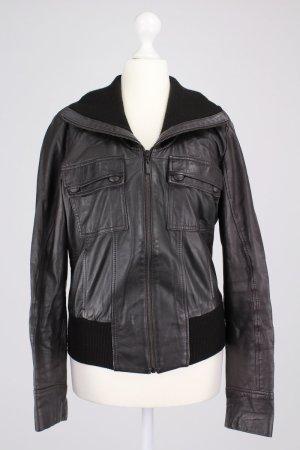 Mexx Lederjacke schwarz Größe 38