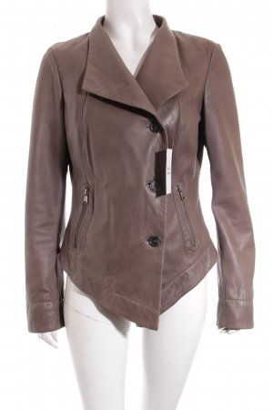 Mexx Lederjacke taupe Casual-Look