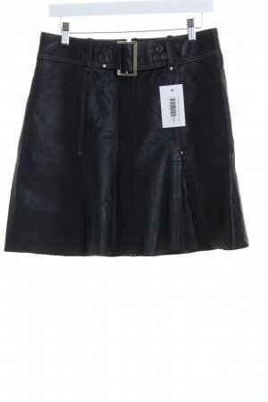 Mexx Lederrock schwarz Eleganz-Look