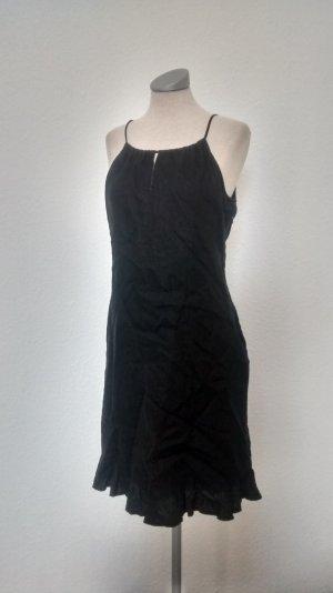 Mexx Leinen Kleid schwarz gothic goa Gr. 38 rückenfrei