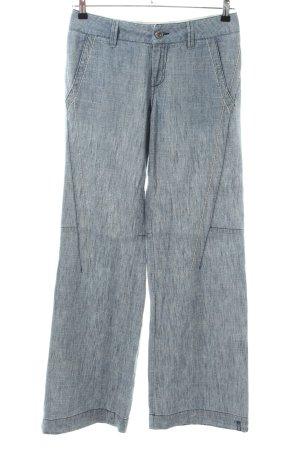 Mexx Pantalón de lino azul Patrón de tejido look casual