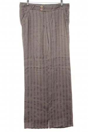 Mexx Linen Pants grey brown abstract pattern business style