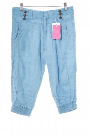 Mexx Linen Pants neon blue casual look