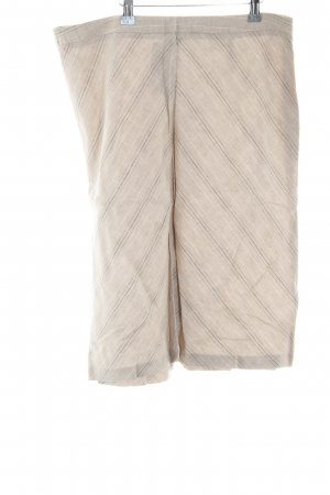 Mexx Linen Skirt natural white striped pattern business style