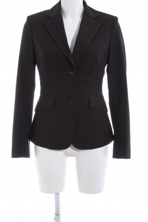 Mexx Long-Blazer schwarz Streifenmuster Business-Look