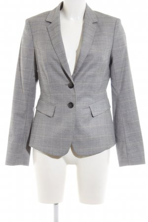 Mexx Long-Blazer hellgrau-wollweiß Karomuster Business-Look