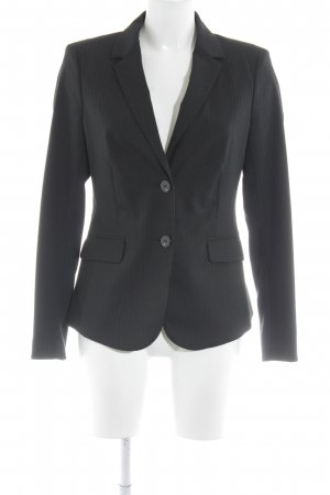 Mexx Long-Blazer schwarz-blassblau Nadelstreifen Business-Look