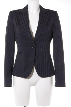 Mexx Long-Blazer schwarz-dunkelblau Nadelstreifen Business-Look
