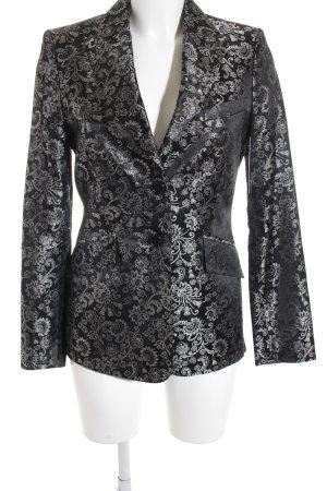 Mexx Long-Blazer schwarz-silberfarben florales Muster extravaganter Stil