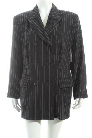 Mexx Long-Blazer schwarz-weiß Nadelstreifen Business-Look
