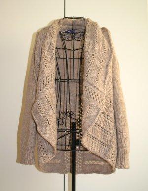 MEXX Long Strickjacke Woll Jacke mit Schalkragen, Gr. XS