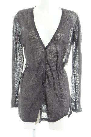 Mexx Long Knitted Vest dark grey weave pattern casual look