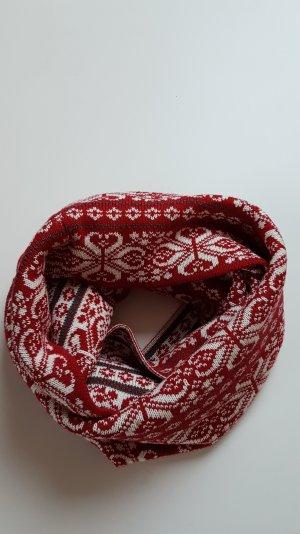 MEXX Loopschal rot weiß