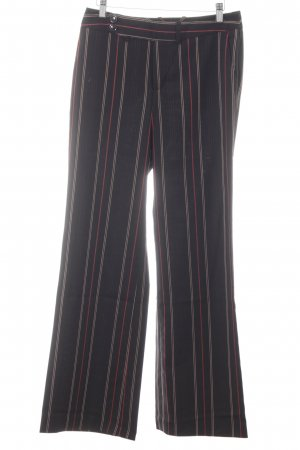 Mexx Marlene Trousers black striped pattern extravagant style