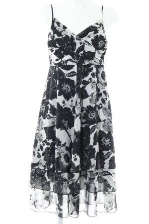 Mexx Midikleid schwarz-weiß florales Muster Romantik-Look