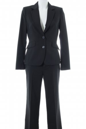 Mexx Pinstripe Suit black pinstripe business style