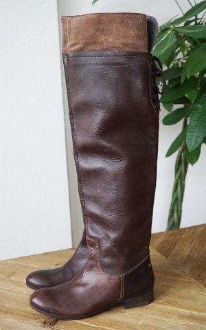 Mexx Overknees Stiefel Echtleder braun Stiefeletten Boots Luxus Premium 39 NEU
