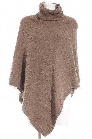 Mexx Poncho graubraun Lochstrickmuster Casual-Look
