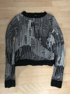 Mexx Pullover schwarz grau weiß xs