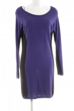Mexx Robe pull bleu-noir motif rayé style décontracté