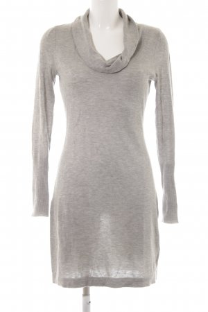Mexx Sweater Dress light grey flecked simple style