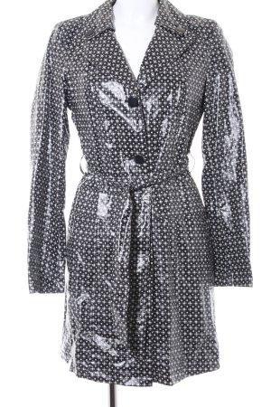 Mexx Chubasquero pesado negro-blanco estampado con diseño abstracto look casual