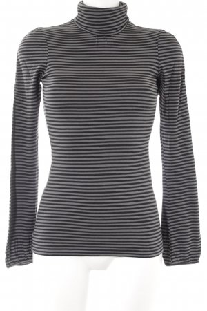 Mexx Turtleneck Sweater grey-black striped pattern casual look