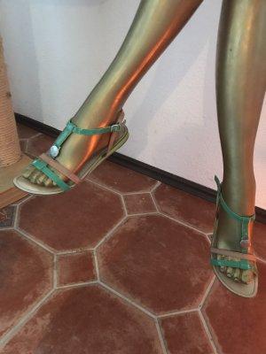 Mexx Sandalen met bandjes grasgroen-bruin