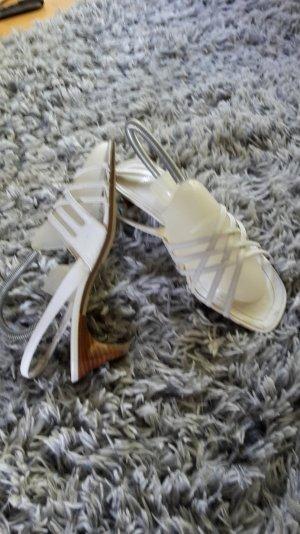 Mexx Sandaletten aus Leder weiß Gr. 39/40