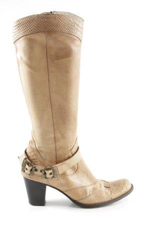 Mexx Stivale militare marrone-bianco sporco stile casual